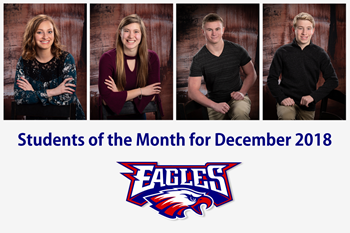 LBHS Students of the month for December 2018