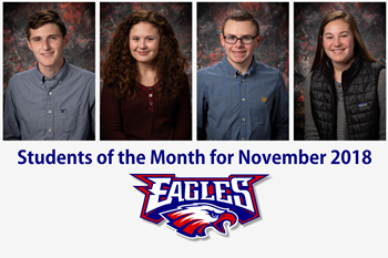 Liberty-Benton High School Students of the Month for November