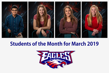Liberty-Benton High School Students of the Month for March