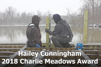 Hailey Cunningham has been named the 2018 Charlie Meadows Award