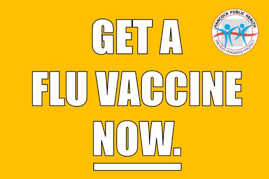 Get a Flu Vaccine Now.
