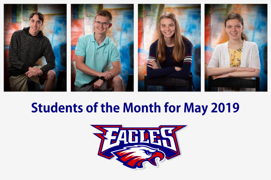 Students of the month for May 2019