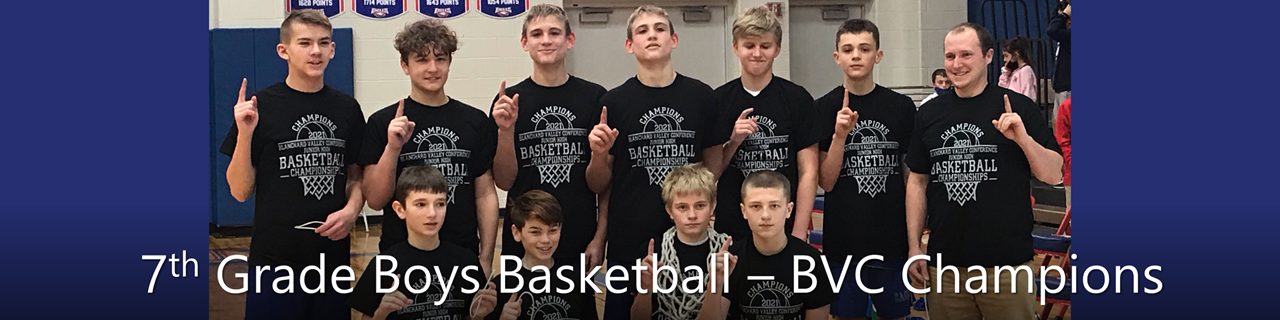 7th grade boys basketball BVC champs